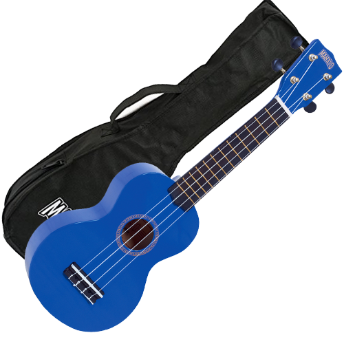 Mahalo Ukulele in Dark Blue Rainbow Series Soprano Ukulele MR1BU